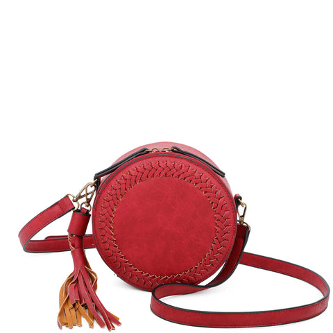 Suzie Round Crossbody - Red - Ampere Creations