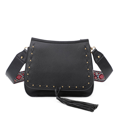 Carlisle Crossbody - Black - Ampere Creations