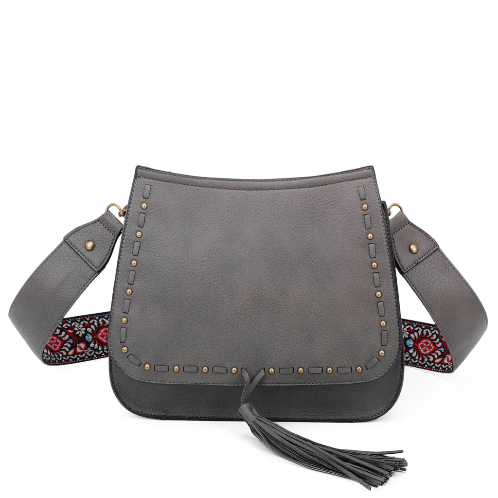 Carlisle Crossbody - Dark Grey - Ampere Creations