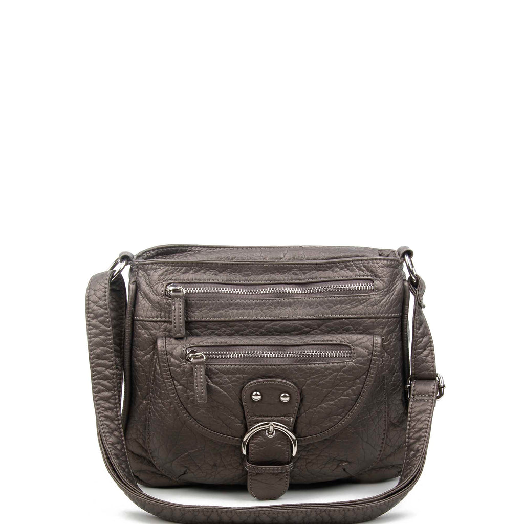 The Lorie Crossbody - Dark Silver - Ampere Creations