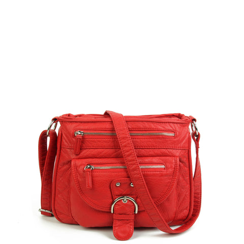 The Lorie Crossbody - Poppy Red - Ampere Creations