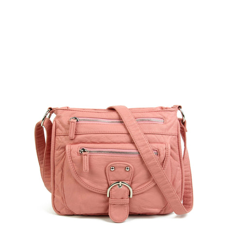 The Lorie Crossbody - Petal Pink - Ampere Creations