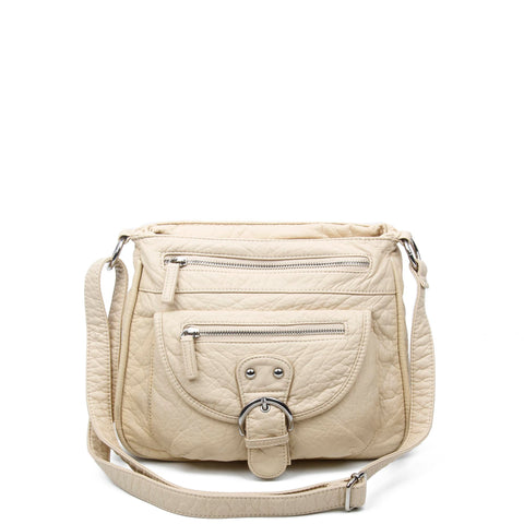 The Lorie Crossbody - Taupe - Ampere Creations