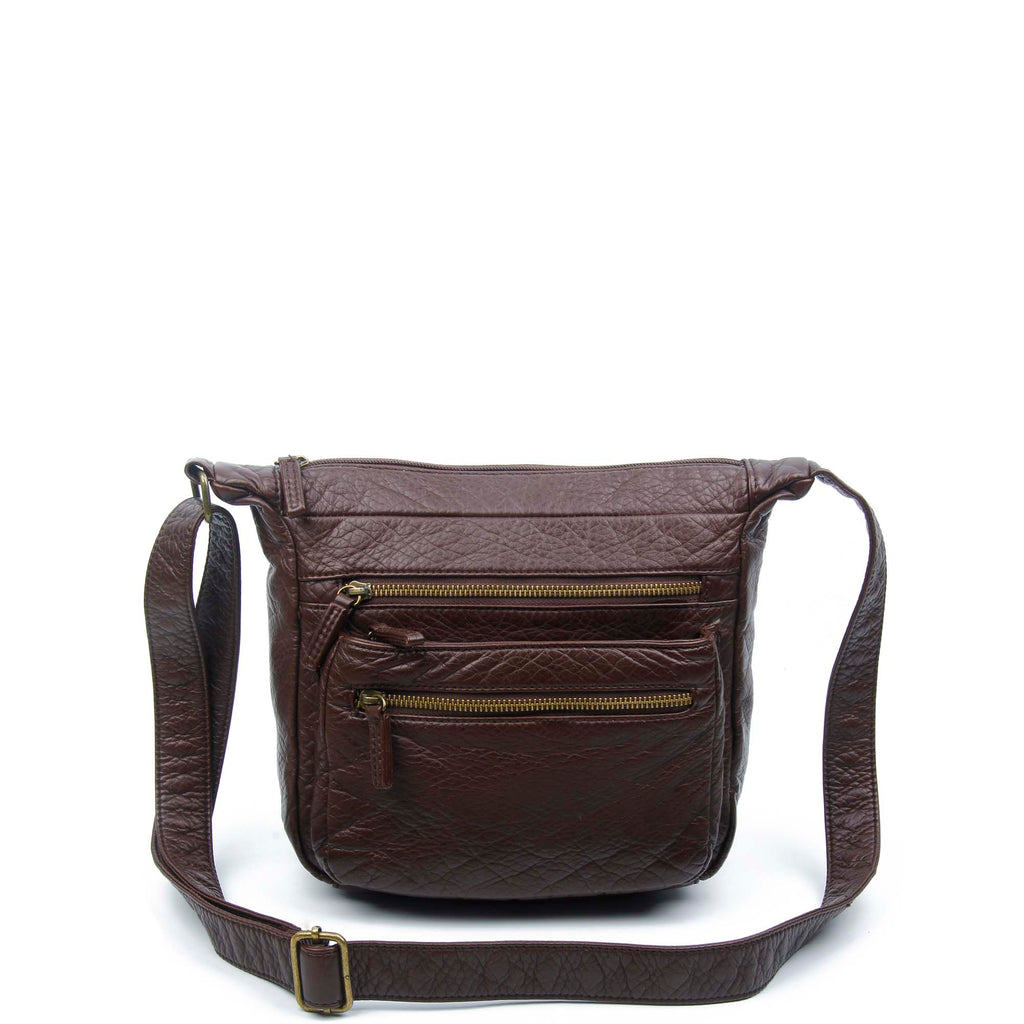 The Elsa Crossbody - Chocolate Brown - Ampere Creations