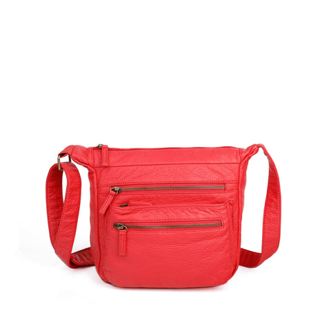 The Elsa Crossbody - Poppy Red - Ampere Creations