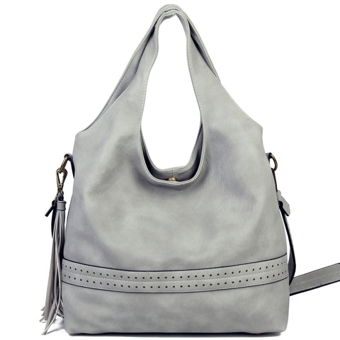 The Amia Hobo - Light Grey