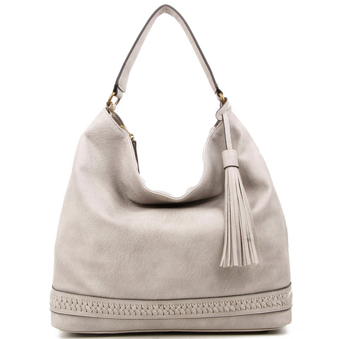 The Aida Hobo - Light Grey - Ampere Creations