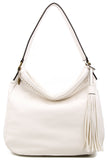 The Andi Braided Stitch Hobo - White