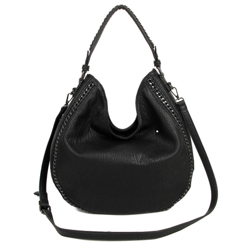 The Dana Hobo Crossbody - Black - Ampere Creations