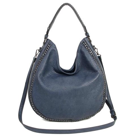 The Dana Hobo Crossbody - Navy Blue - Ampere Creations