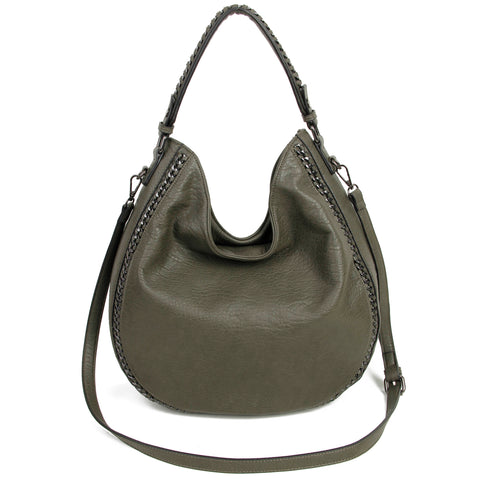 The Dana Hobo Crossbody - Sage - Ampere Creations