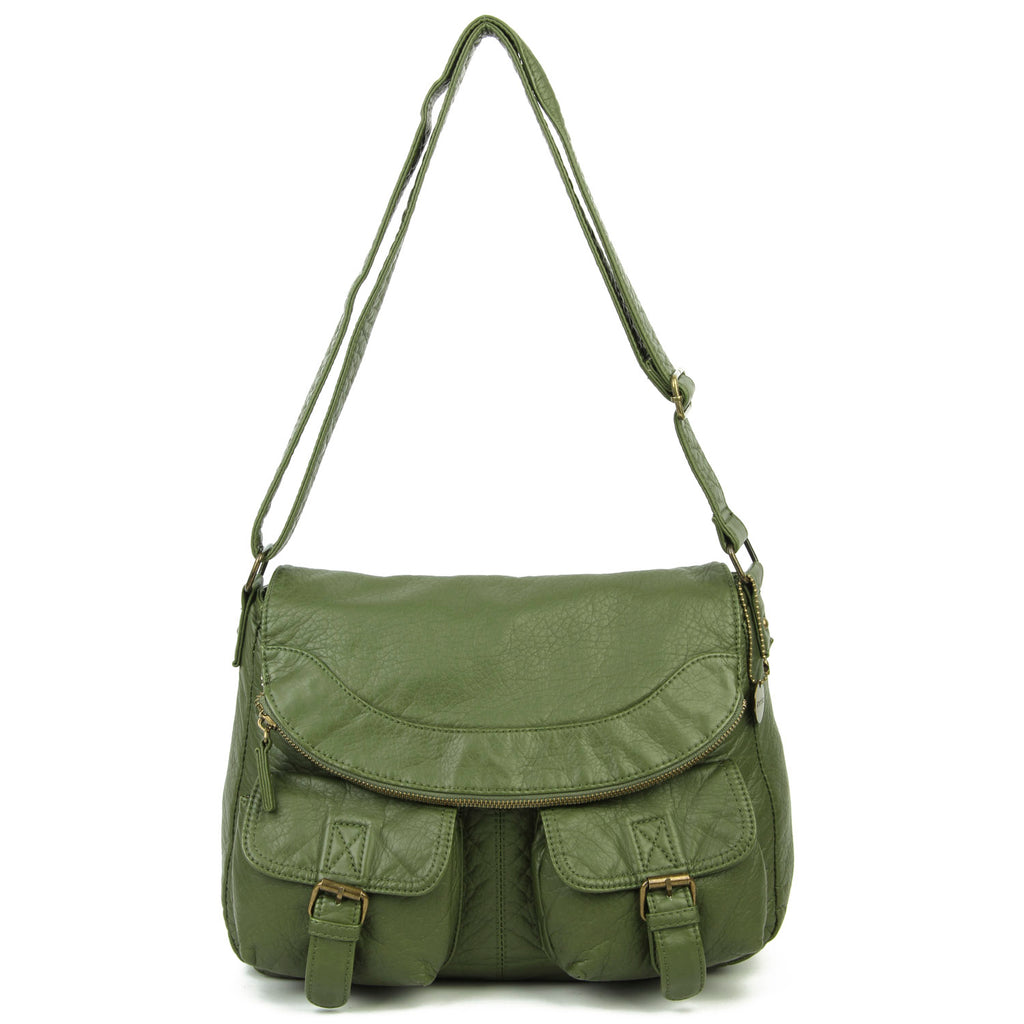 The Annabell Messenger Crossbody - Army Green - Ampere Creations