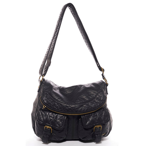 The Annabell Messenger Crossbody - Black - Ampere Creations