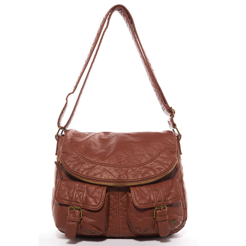 The Annabell Messenger Crossbody - Brown - Ampere Creations