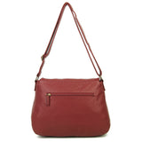 The Annabell Messenger Crossbody - Burgundy - Ampere Creations