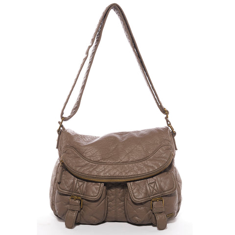 The Annabell Messenger Crossbody - Dark Grey - Ampere Creations