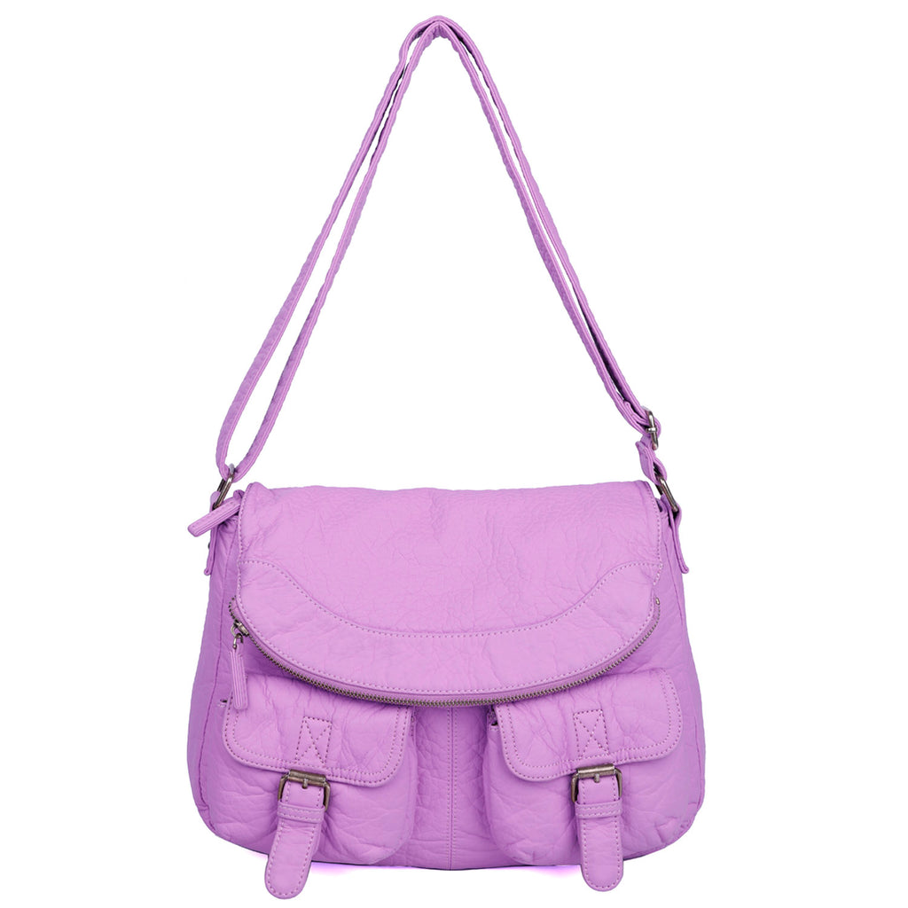 The Annabell Messenger Crossbody - Light Purple - Ampere Creations