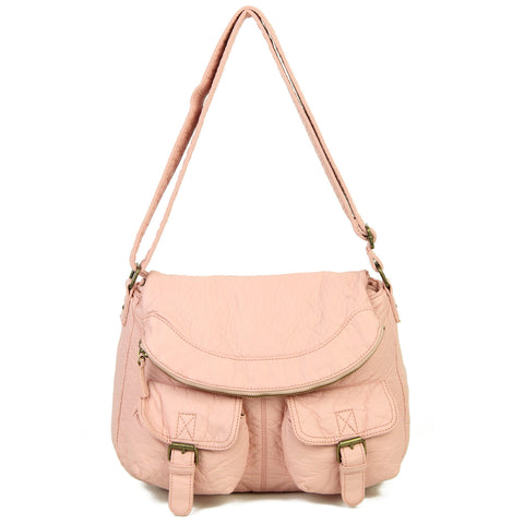 The Annabell Messenger Crossbody - Petal Pink - Ampere Creations