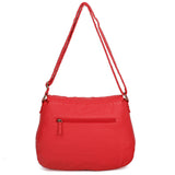 The Annabell Messenger Crossbody - Poppy Red - Ampere Creations