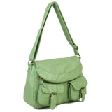 The Annabell Messenger Crossbody - Seafoam Green - Ampere Creations