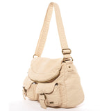 The Annabell Messenger Crossbody - Taupe - Ampere Creations