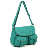 The Annabell Messenger Crossbody - Teal - Ampere Creations