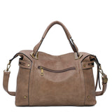 The Ali Satchel - Shiitake Brown
