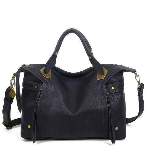 The Ali Satchel - Black - Ampere Creations