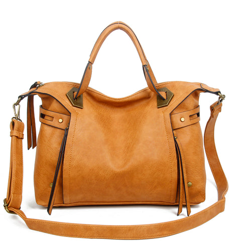 The Ali Satchel - Light Brown - Ampere Creations