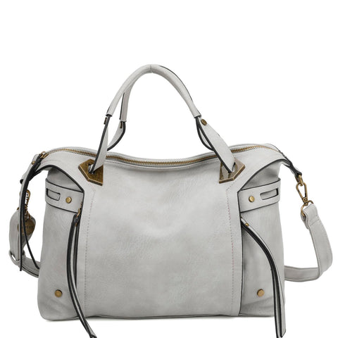 The Ali Satchel - Light Grey - Ampere Creations