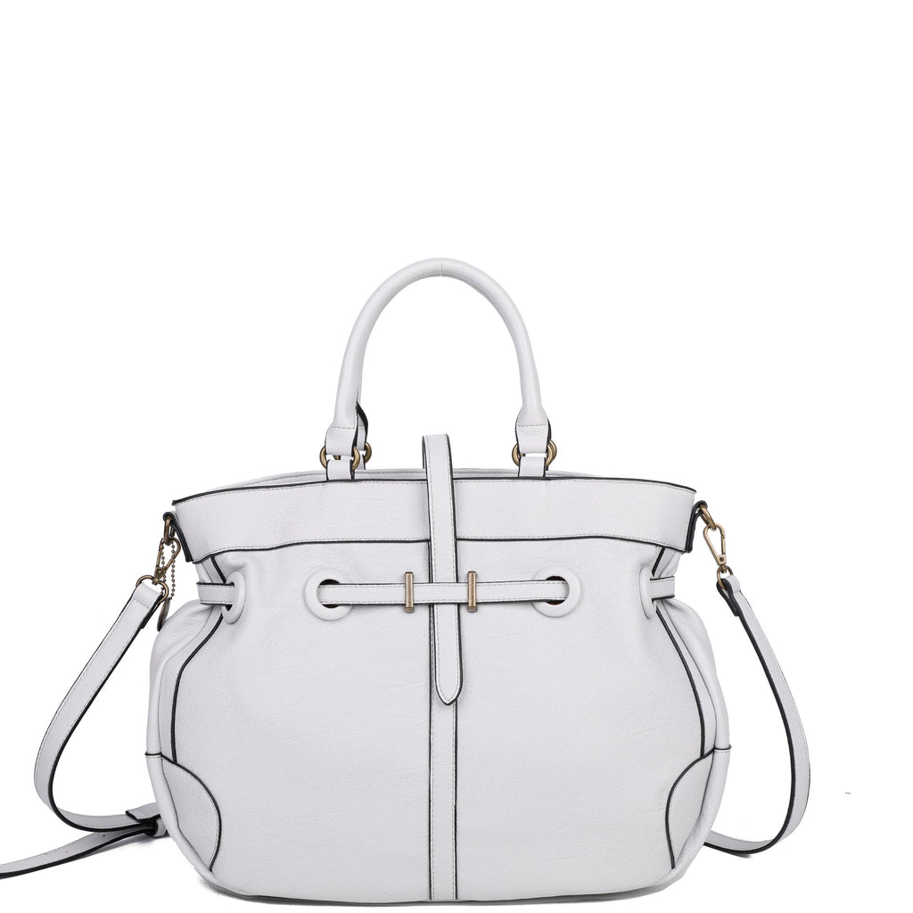 The Brandi Satchel - Fossil Grey - Ampere Creations