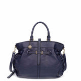 The Brandi Satchel - Navy Blue - Ampere Creations