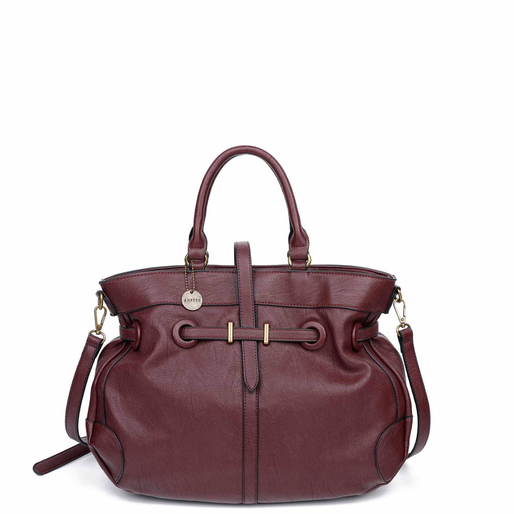 The Brandi Satchel - Wine - Ampere Creations