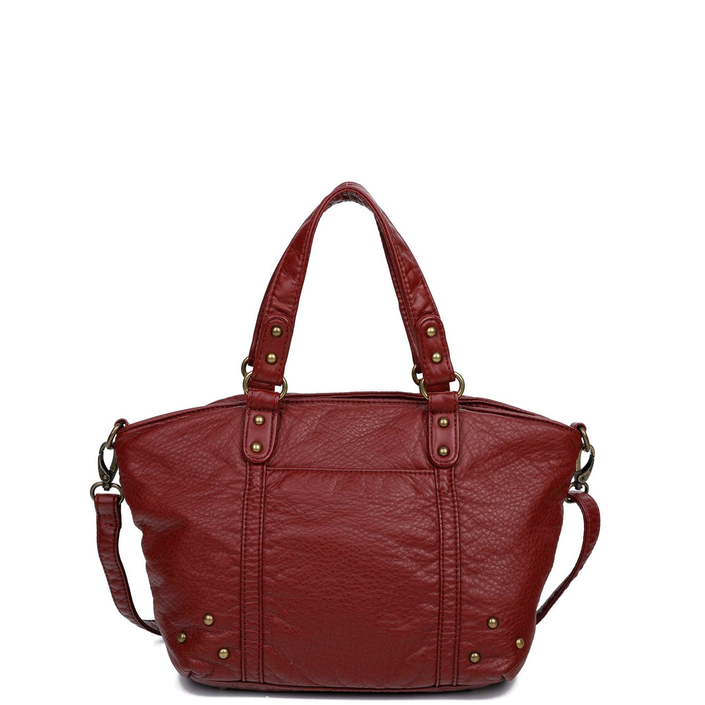 The Patty Tote - Burgundy - Ampere Creations