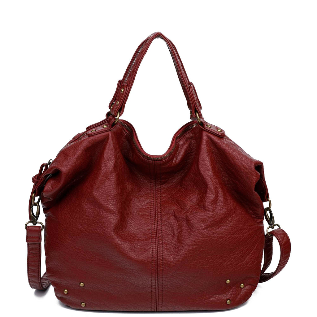 The Laurel Satchel - Burgundy - Ampere Creations