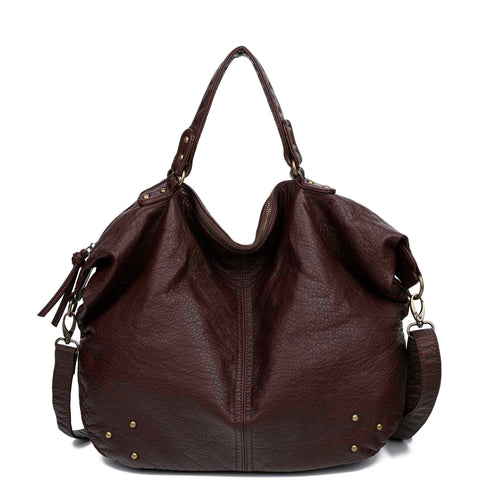 The Laurel Satchel - Chocolate Brown - Ampere Creations