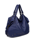 The Laurel Satchel - Navy Blue - Ampere Creations