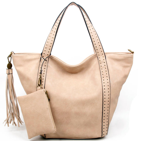 The Amelie Tote - Beige - Ampere Creations