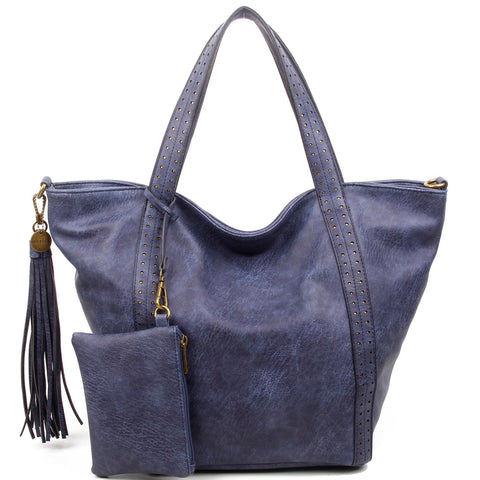 The Amelie Tote - Blue - Ampere Creations