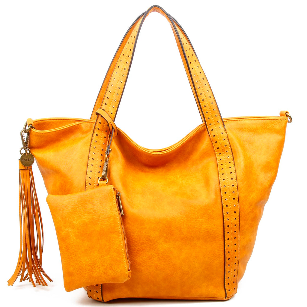 The Amelie Tote - Camel - Ampere Creations