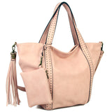 The Amelie Tote - Pastel Pink - Ampere Creations