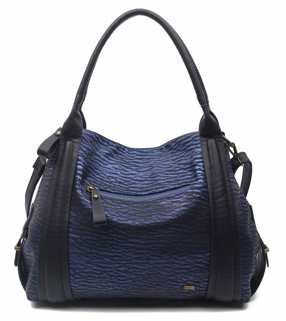 The Anna Tote Hobo - Blue - Ampere Creations