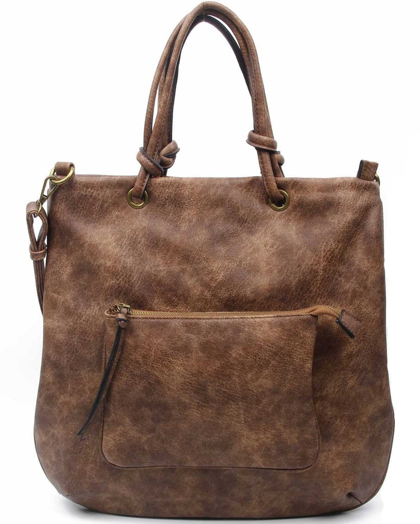 The Addison Tote - Brown - Ampere Creations
