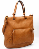 The Addison Tote - Light Brown - Ampere Creations