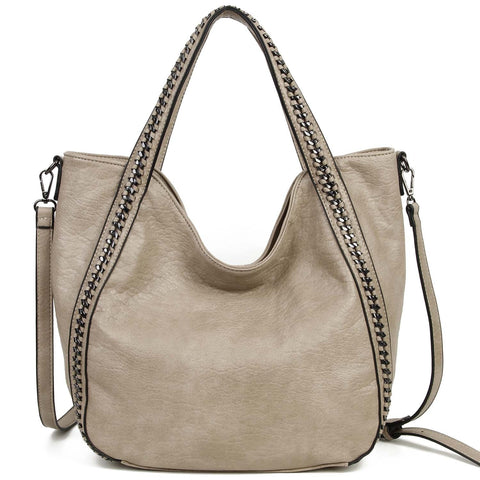 The Daphne Tote - Taupe - Ampere Creations