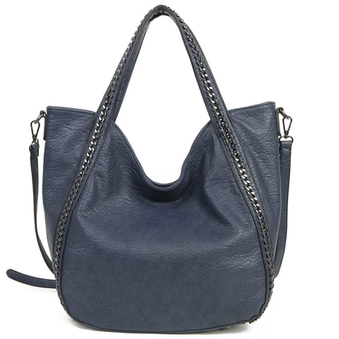 The Daphne Tote - Navy Blue - Ampere Creations