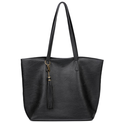 The Lucia Tote - Black - Ampere Creations