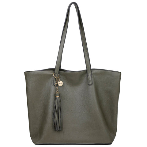 The Lucia Tote - Olive - Ampere Creations