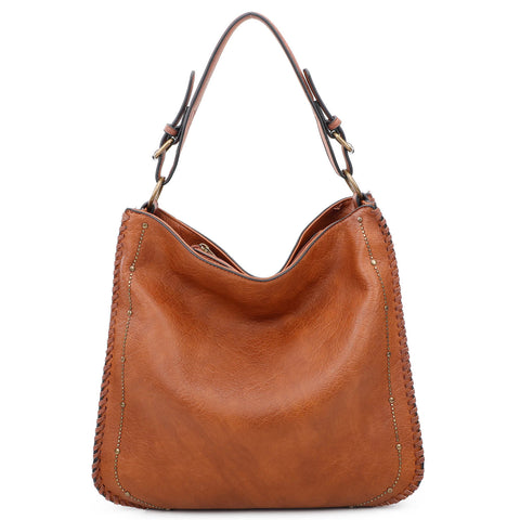 Virginia Tote - Cognac - Ampere Creations
