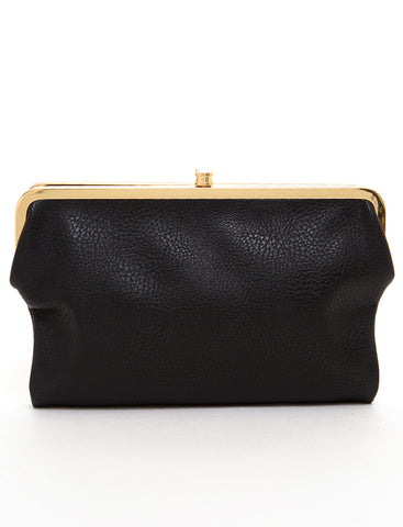 The Sandra Clutch Wallet - Black - Ampere Creations